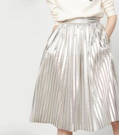 Maje Metallic Skirt