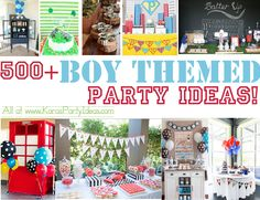 ~ 500 + Awesome BOY themed PARTY IDEAS! At www.KarasPartyIdeas.com
