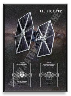 TIE Fighter, Star Wars Poster