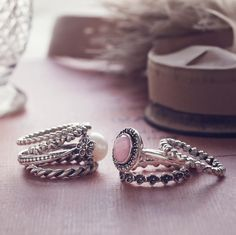 Stackable Rings. Pandora