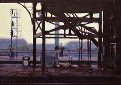 "Daily+Paintworks+-+""Station+Shadows,+2""+-+Original+Fine+Art+for+Sale+-+©+Ski+Holm"