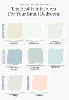 8 Paint Colors That Always Work for a Small Bedroom. 8 Paint Colors That Always Work for a Small Bedroom. Ideas for Couch for a Family Room. Small Living Room Design You can get more details by clicking on the image. Small Bedroom Colours, Bedroom Small, Diy Bedroom, Bedroom Girls, Interior Design Small Bedroom, Small Bedroom Decorating, Blue Bedrooms, Calming Bedroom Colors, Bedroom Ideas For Small Rooms Diy