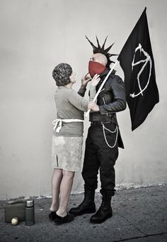 There are awesome: real-life banksy re-creations by nick stern