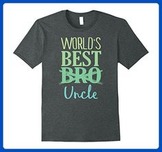 Mens World's Best Uncle Shirt Pregnancy Announcement Shirt Large Dark Heather - Relatives and family shirts (*Amazon Partner-Link)