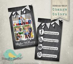 Chalkboard Business Card Templates  Business by SugarfliesDesigns, $8.00