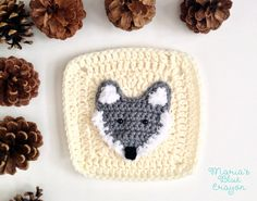 Woodland Wolf Granny Square - Woodland Afghan Series