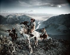 2. Kazakh – Mongolia  A semi-nomadic people, the Kazakhs travel the valleys and mountains of Western Mongolia since the 19th-century. Famous for using eagles to hunt, the Kazakhs managed to retain this tradition for decades.
