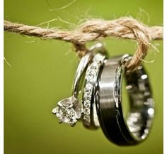 I want this to be a photo of our rings. we will have plenty of rope hanging around to do it.