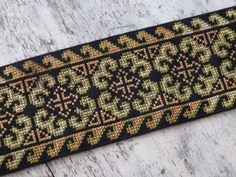VINTAGE Hmong Hill Tribe hand made cross stitch work for clothing, bags, accessories - length of hand sewn Thai cross stitch, VINTAGE Cross Stitching, Cross Stitch Embroidery, Hand Embroidery, Cross Stitch Designs, Cross Stitch Patterns, Quilt Patterns, Hmong People, Palestinian Embroidery, Creative Embroidery