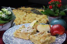 Apfelkuchen vom Blech – saftiges Rezept mit Streuseln Grilling, Protein, Food And Drink, Tips, Decor, Sprinkles, Bakken, Decoration, Crickets