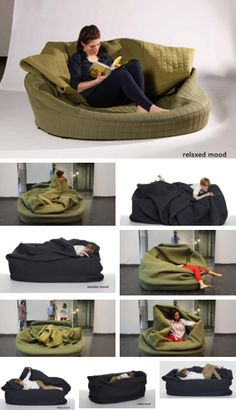 It's like a couch inside a sock. Could be a souch.never mind. Funky Design, Lounge Sofa, Take Me Home, Creative Decor, Bed Frame, Home Furnishings, Cool Things To Buy, Family Room, House Design