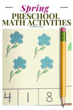 Ready for some fun spring preschool math activities? How about some spring counting clip cards?