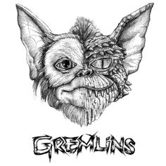 Inspired by the American horror comedy film, Gremlins. Gizmo Tattoo, Lion Tattoo, Jason Drawing, Art Sketches, Art Drawings, Gremlins Gizmo, Movie Crafts, Horror Drawing, Scary Tattoos