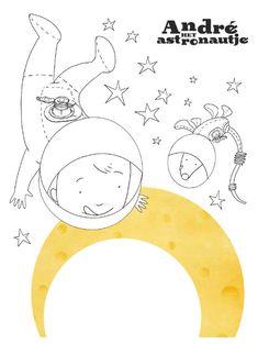 Knutseltips van Andre het astronautje. Tekeningen, zelfbouwpakketten bekijk het allemaal! Space Party, Bible Crafts, Art Challenge, Out Of This World, Solar System, Diy For Kids, Robot, Ceramics, Blue Prints