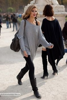 5 Tips on What to Wear with Leggings - Glam Bistro
