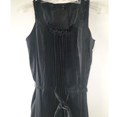 Pleated Silk Black Dress Perfect dress for when you want to look conservative but still feminine. Gently worn and was super loved. Please check out my other items as I'm doing some major closet cleaning! Banana Republic Dresses