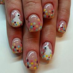 Some Bunny loves Easter Nails @seasonssalonanddayspa #nailsbydeb #nailart #easternails #handpainted #nailart #Padgram
