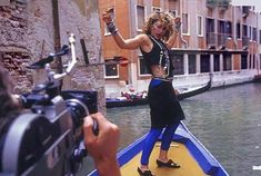Madonna filming Like a Virgin video in Venice Italy directed by Mary Lambert r Madonna Albums, Madonna Music, Lady Madonna, Madonna Like A Prayer, Madonna Like A Virgin, Mtv, Madonna Family, 1980s Madonna, Mary Lambert