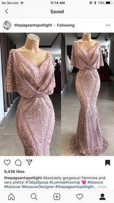 Gorgeous Floor Length Prom Dress Metallic Lace Special Occasion Gown with Flutter Sleeves and Beaded Elegant Dresses, Pretty Dresses, Blush Formal Dresses, Black Evening Dresses, Formal Gowns, Beautiful Gowns, Gorgeous Dress, Dream Dress, Dress To Impress