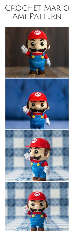 This crocheted mario is so detailed! This is goals, and I know a few little kiddos who would love to have this guy! Afflink.