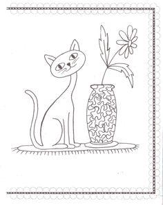 Chat et vase Lesley