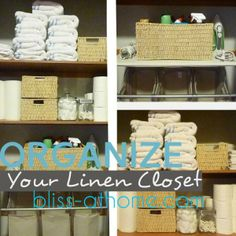 Tips for organizing and storage in your linen closet.