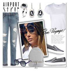 """Get the Look: Airport Style"" by littlehjewelry ❤ liked on Polyvore featuring Joe's Jeans, RE/DONE, Brunello Cucinelli, MICHAEL Michael Kors, Marc Jacobs, GetTheLook, contestentry, airportstyle, pearljewelry and littlehjewelry"