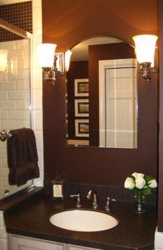 LOVE the chocolate bathroom!