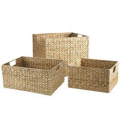 Carson Water Hyacinth Shelf Baskets