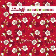 Lillestoff SAKURA Red GOTS knit 50cm x 150cm