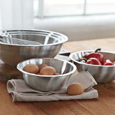 Stainless-Steel Restaurant Mixing Bowls, Set of 5 | Williams-Sonoma
