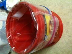 """Need 4 hands when wanting to pour something into a gallon ziplock? My very smart hubby said """"use an empty coffee can"""" I did and well it was perfect! Pie Dish, Coffee Cans, Empty, Hands, Good Things, Canning, Diy, Ideas, Bricolage"""