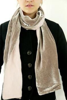 Velvet Linen Scarf  by www.thelinenworks.co.uk