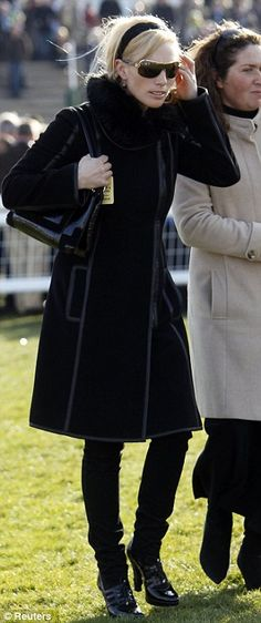 Very chic Zara Phillips at another race meet in Gloucester
