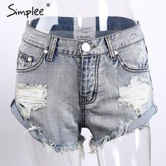 Apparel Women Shorts Denim Casual pocket jeans shorts summer girl shorts