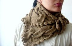 Knitting PDF PATTERN Cabled Neck warmer Cowl by PATTERNSbyFAIMA, $4.99