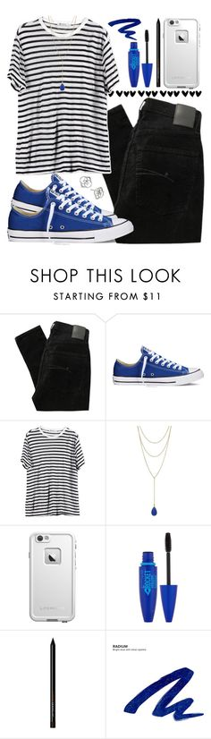 """""""Untitled #207"""" by lexii0827 ❤ liked on Polyvore featuring Nobody Denim, Converse, T By Alexander Wang, Vince Camuto, LifeProof, Maybelline, Urban Decay and Kendra Scott"""