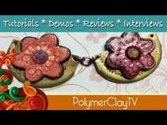 How to make jewelry links using Pebeo Fantasy paint and polymer clay
