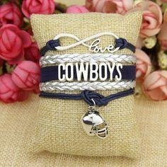 Dallas Cowboys Love Bracelet with Pendant Bracelet for Dallas Cowboys fans. Cowboy Love, Love Bracelets, Dallas Cowboys, Chanel, Tote Bag, Sport, Pendant, Trending Outfits, Unique Jewelry