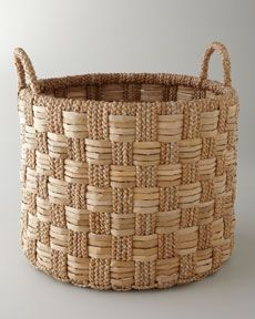 H6MMP Seagrass Basket with Check Pattern