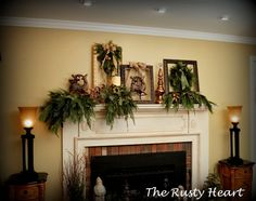Rusty Heart Designs: Christmas Mantel