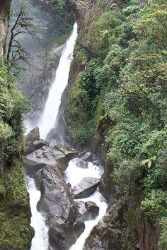 Pailón del Diablo waterfall near Baños, Ecuador