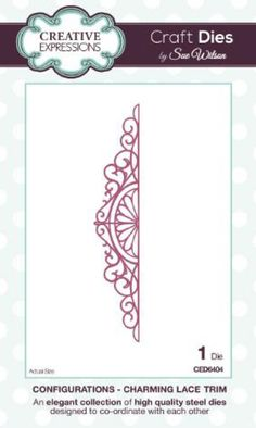 Creative Expressions Craft Dies by Sue Wilson - Configurations - Charming Lace Trim