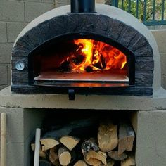 This Brazza Brick Wood Fired Oven is perfect for baking pizzas & bread while sitting outside with friends & family. � Patio & Pizza