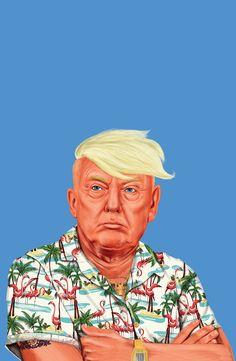 Trump reimagined as 'sensitive' businessman, braggart and politician Donald 'Darko' by illustrator Amit Shimoni