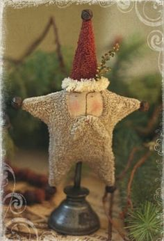 Adorable little punchneedle santa...