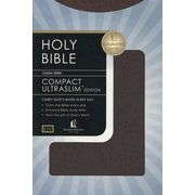 KJV Compact Ultraslim Bible - LeatherSoft Grain Burgundy