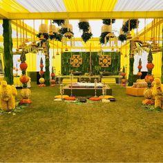 Traditional wedding Traditional banana leaves n marigold for traditional wedding. Bride Entry, Wedding Entrance, Marriage Decoration, Wedding Stage Decorations, Indian Wedding Mehndi, Best Wedding Planner, Wedding Planners, Mehndi Decor, Traditional Wedding