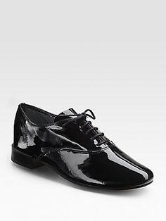 Repetto Zizi+Femme+Patent+Leather+Lace-Up+Flats