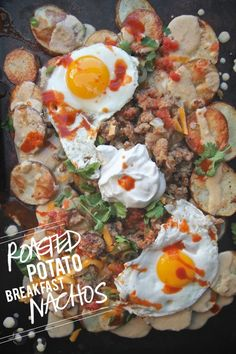Roasted Potato Breakfast Nachos from Shutterbean.